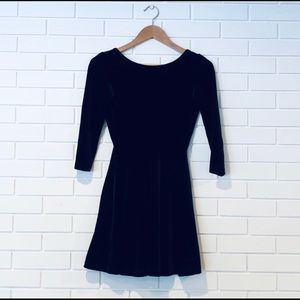 AMERICAN APPAREL velour mini dress